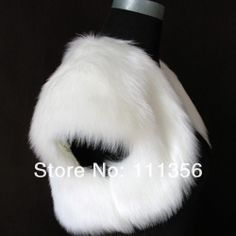 Ivory Black WhiteFaux Fur Bride Wedding Shrug Shawl/Scarf Floss Coat Bolero $18.77