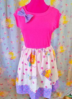 Barbie dress fairy kei 80s party polka dot size by missalphabet
