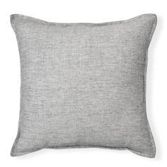 Linen chambray cushion with flat edging. Manila, Chambray, Cushions, Throw Pillows, Flat, Toss Pillows, Toss Pillows, Bass, Pillows