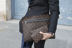 Layers of Louis Vuitton. #StreetStyle accessories at Paris Fashion Week #PFW