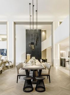 MODERN DINING ROOM DECOR | another great decor form Kelly Hoppen Interiors, always designing beautiful interiors | www.bocadolobo.com #diningroomdecorideas #moderndiningrooms
