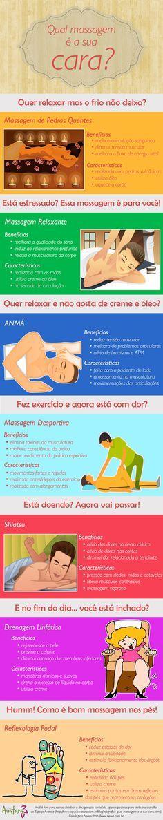 Infográfico: Qual massagem é a sua cara?