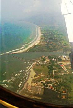 My view as I was landing in La Ceiba, Honduras