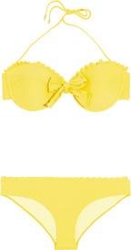 Miu MiuScalloped bow bikini