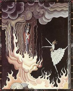 Kay Nielsen  I remember this picture- from the story of the Tin Soldier. We had this book.
