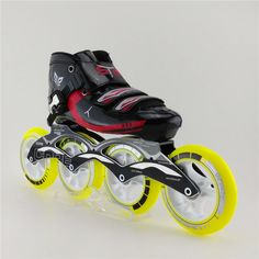 161.00$  Watch now - http://ali0ek.worldwells.pw/go.php?t=32583144566 - Professional Inline Speed Skating Shoes Four Wheel High-Strength Glass Fiber Speed Skating Skates Roller Patins For Kids