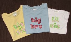 Siblings Applique T shirts