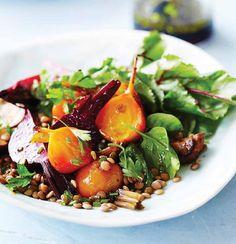 #ClippedOnIssuu from #yum. #GlutenFreeMagazine October 2014 #Roasted #beetroots & #Lentil #Salad