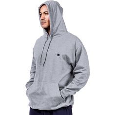 Champion Men's Pullover Fleece Hoodie – Big & Tall, Size: XXXL, Gray
