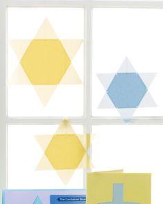 Hanukkah Window Stars