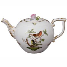Herend Rothschild Bird Teapot   Artedona.com