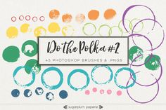 Do the Polka #2 : Brushes by Sugarplum Paperie on @creativework247