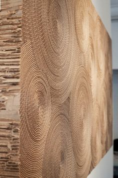 wa_180114_02 » CONTEMPORIST. Montreal-based artist Marie José Gustave has created Hypnotic, a piece of wall art made from rolled cardboard.