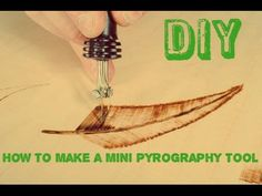 how to make a Mini Pyrography Tool ! - YouTube
