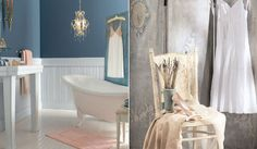 20 Ways to Update the Look of Your Bathroom: Blue and White Paint Bathroom Color Scheme