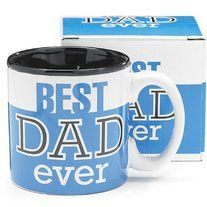 Brand: Burton & Burton MPN: 119100 UPC: 098111937025   Best Dad Ever 13Oz Coffee Mug Great for Father's Day or Birthday     Fantastic for Father's Day     Holds 13 Ounces     Dishwasher Safe/FDA Approved/Microwave Safe     Ceramic Mug with Black Interior     Great Gift for An...