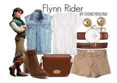 """""""Flynn Rider"""" by leslieakay ❤ liked on Polyvore featuring Bling Jewelry, Daniel Wellington, Hollister Co., STELLA McCARTNEY, J.Crew, Frame, Mulberry, Billini, disney and disneybound"""