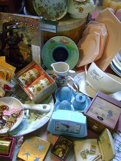 Lovely vintage homewares at our Saltaire Vintage Home & Fashion Fair