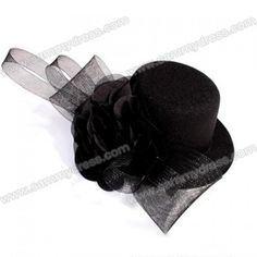0b33952d1b0 Retro Style Ribbon Flower and Lace Embellished Hat Shaped Hairpin For Women