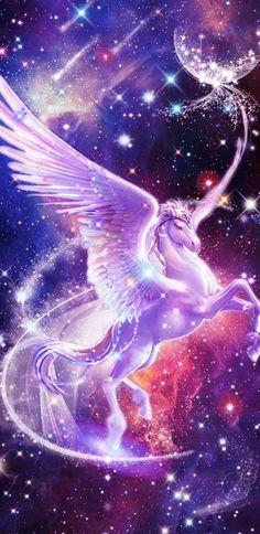 Iphone Wallpaper Unicorn, Unicornios Wallpaper, Cute Galaxy Wallpaper, Unicorn Backgrounds, Fairy Wallpaper, Scenery Wallpaper, Animal Wallpaper, Cool Galaxy Wallpapers, Phoenix Wallpaper