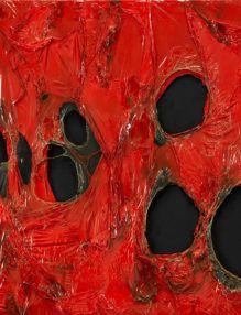 Alberto Burri Rosso Plastica 1963