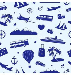 Buy Seamless Monochrome Pattern on Travel by on GraphicRiver. Seamless monochrome pattern composed of travel and tourism symbols. Free Vector Art, Vector Graphics, Free Vector Images, Tourism Day, Travel And Tourism, Travel Ad, Monochrome Pattern, Ecommerce Logo, Logo Images