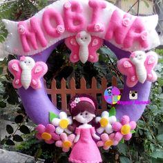 #felt #baby #gift #cute #door #hanger #royayenamadi #گل #نمدی #زیبا