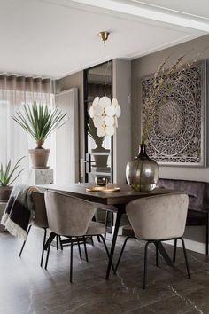 Home Room Design, Dining Room Design, House Design, Luxury Dining Room, Room Interior, Interior Design Living Room, Interior Decorating, Home Decor Bedroom, Living Room Decor