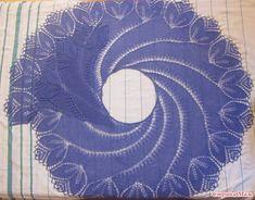 """Shawl """"Begoniaviy Vortex"""" knit on-line"""