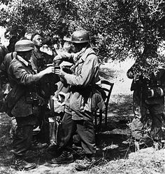 Greece , conquest of Crete 'Operation Merkur' war theatre:German parachuters taking a short recovery. May 1941 Get premium, high resolution news photos at Getty Images