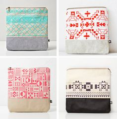 screen printed leather bags