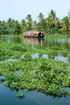 Houseboat At Kerala #India