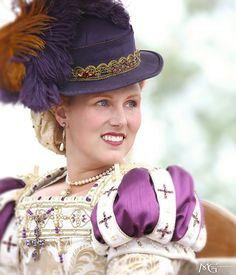 renaissance pleasure faire. these were often the style of hats the Noble Ladies wore when horse back riding