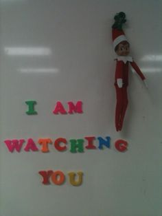 Hoping to find some last minute elf on the shelf ideas? Well, look here for funny elf on the shelf messages for kids & hilarious elf on the shelf ideas. Elf On The Self, The Elf, Elf Magic, Naughty Elf, Preschool Christmas, Holiday Crafts, Holiday Decorations, Holiday Fun, Holiday Ideas