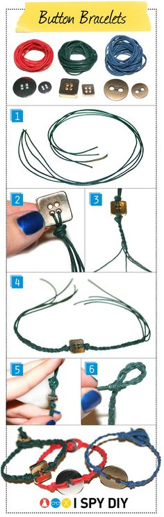 DIY project :  BUTTON BRACELET