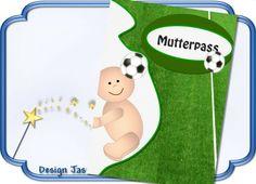 Mutterpass Hülle,Fußball  von Jasuki auf DaWanda.com
