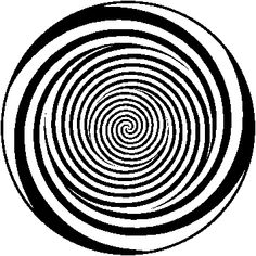 freaky moving spiral optical illusion