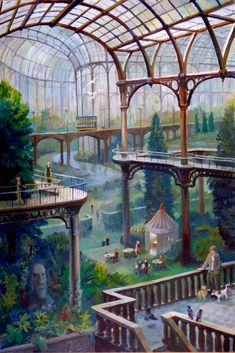 """""""Banner Cross Pavilion"""" by Phil Lockwood Edward Hopper, Dungeons And Dragons, Pavilion, Gazebo, Banner, Outdoor Structures, Fantasy, Pictures, Painting"""