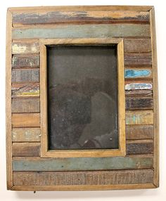 reclaimed wood picture frame for 5x7 photo from antique old salvaged wood 728 - Wooden Picture Frames