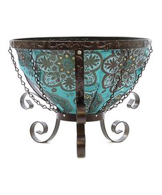 This Blue Marrakesh Cauldron Planter by Toland Home Garden is perfect! #zulilyfinds