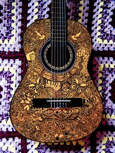 Own a piece if art that looks like this.....Guitar Art - Julia Ockert Portfolio - The Loop