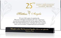 Personalized Religious Gift for Wedding Anniversary for Parents, for Couple, Customized with Name & Date, Unique Gift from Children or Best Friend for Silver Wedding Anniversary (L - 10 25 Wedding Anniversary Gifts, Anniversary Dates, Happy Anniversary, Strong Relationship, Religious Gifts, Unique Gifts, Best Friends, Parents, Marriage