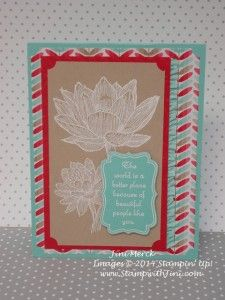 Scrapbook card general card People Like You - love this water lily image and sentiment
