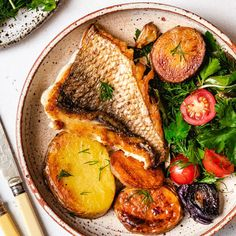 Grilled Snapper with Potatoes