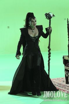 Lana Parrilla as Evil Queen- BTS Photos - once-upon-a-time Photo
