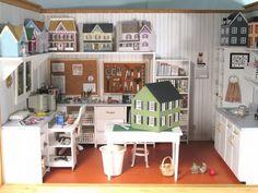 Dollhouse workshop room box.