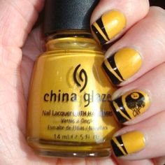 Steeler nails - Clearly I would change the colors to Blue & White for my Colts! It would be even cuter!!