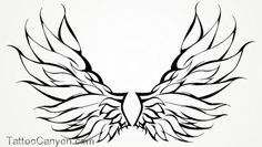 Wings Tattoo Angel Tribal Outline Design picture 10378