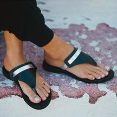 Sandals Summer SandalsGreek sandalsLeather sandalsHandmade sandalsSummer - There is nothing more comfortable and cool to wear on your feet during the heat season than some flat sandals. Flat Sandals, Flip Flop Sandals, Leather Sandals, Shoes Sandals, Women Sandals, Flip Flops, Boho Sandals, Beaded Sandals, Leather Slippers