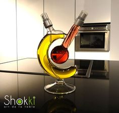 Design item for oil and vinegar. you can see more www.shokki.be Best gift for christmas